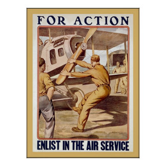 Enlist in the Air Service ~ Vintage WW1 Poster