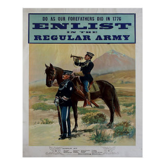 Enlist in the Regular Army Poster