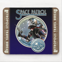 Enlist in the Space Patrol Mouse Pad