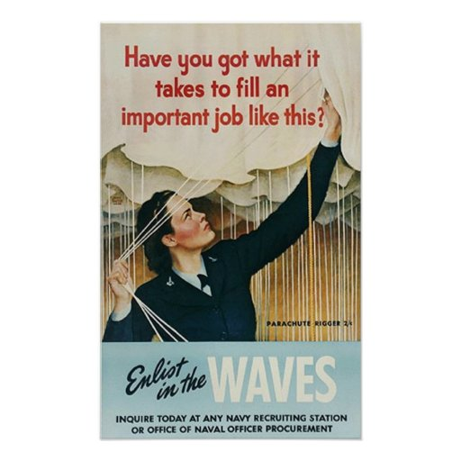 Enlist in the waves poster