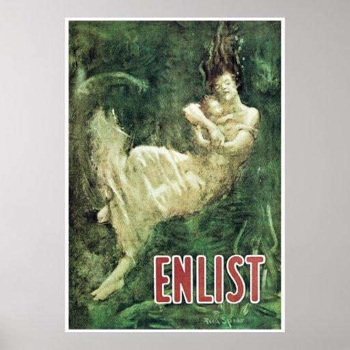 Enlist ~ Lusitania Tragedy Print