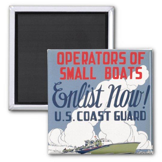 Enlist Now! U.S. Coast Guard Magnet