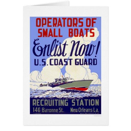 Enlist now!  U.S. Coast Guard - WPA Greeting Card