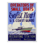 Enlist now!  U.S. Coast Guard - WPA Poster
