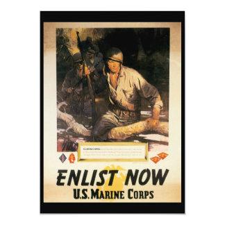 Enlist Now World War II Card