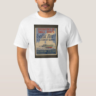 Enlist Now! WWII U.S. Coast Guard Recruiting T T-Shirt