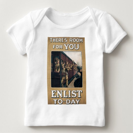 """""""Enlist"""" Old U.S. Military Poster circa 1915 Baby T-Shirt"""