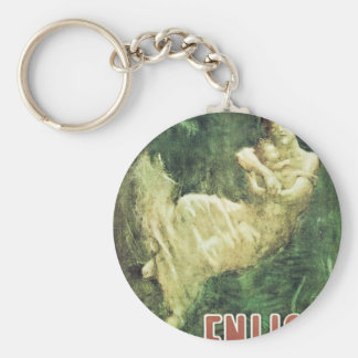 """""""Enlist"""" Old U.S. Military Poster circa 1915 Keychain"""