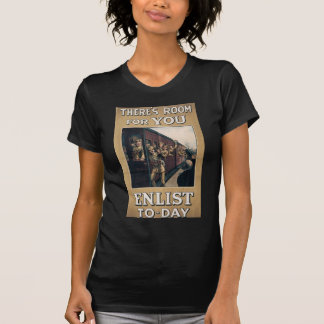 """Enlist"" Old U.S. Military Poster circa 1915 T-Shirt"