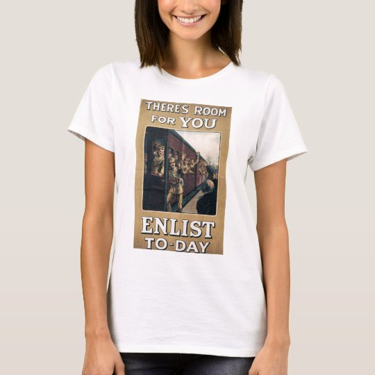 """Enlist"" Old U.S. Military Poster circa 1915 T-Shirt"