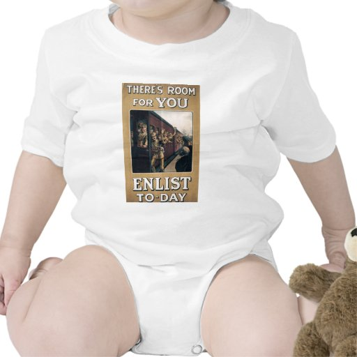 """""""Enlist"""" Old U.S. Military Poster circa 1915 T Shirts"""
