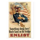 """Enlist"" Old U.S. Military Poster circa 1917 Postcard"