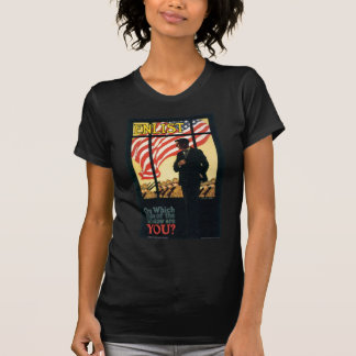 """Enlist"" Old U.S. Military Poster circa 1917 T-Shirt"