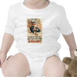 """""""Enlist"""" Old U.S. Military Poster circa 1917 Baby Bodysuits"""