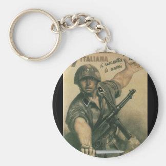 Enlist Propaganda Poster Keychain