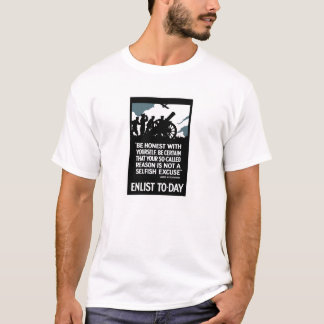 Enlist To-Day -- Lord Kitchener WWI T-Shirt