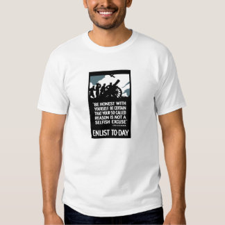 Enlist To-Day -- Lord Kitchener WWI Tee Shirt