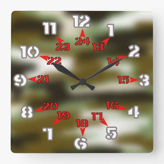 enlisted time square wall clock