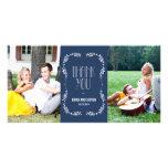 Enmarcar las hojas que el casarse le agradece card tarjetas fotográficas