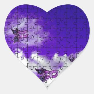 enmascara 1.jpg pegatina en forma de corazón