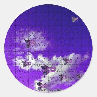 enmascara 1.jpg pegatina redonda