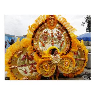 Enmascarado del carnaval, Trinidad and Tobago Tarjeta Postal