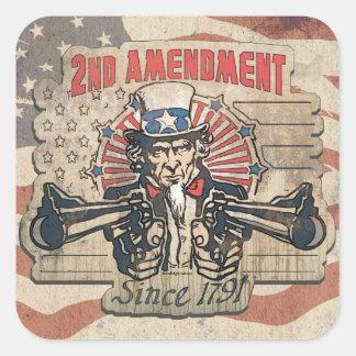 Enmienda 1791 del vintage segundo colcomanias cuadradas
