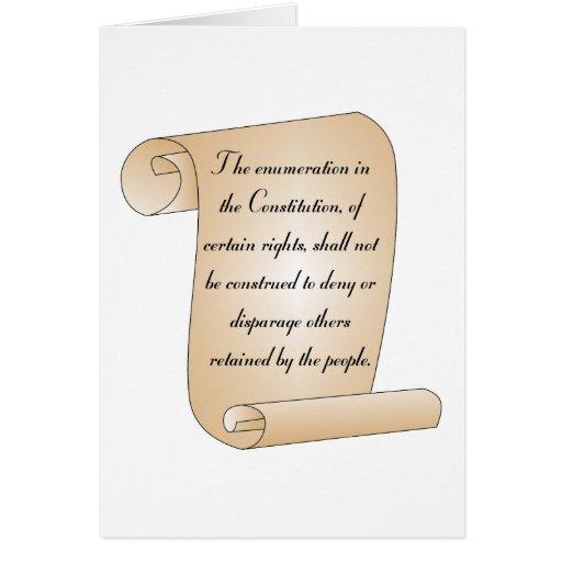 Enmienda constitucional 9 tarjeton