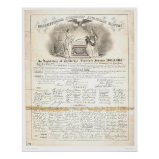 Enmienda constitucional que suprime la esclavitud  posters