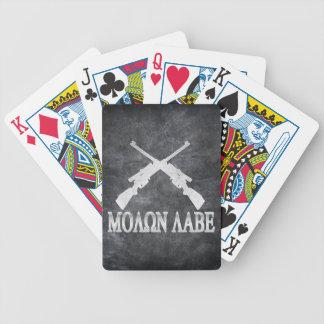Enmienda cruzada Labe de los rifles de Molon 2da Baraja Cartas De Poker