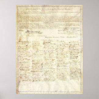 Enmienda de la firma de la aprobación de Abraham L Póster
