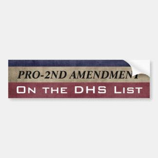 Enmienda de Pro-2nd y en la lista Pegatina Para Coche