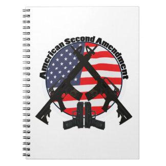 Enmienda del americano segundo libreta