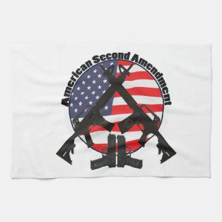 Enmienda del americano segundo toalla