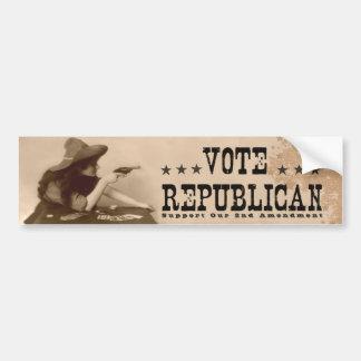Enmienda del vintage republicano del voto 2da pegatina para auto