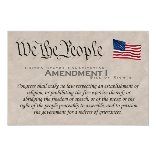 Enmienda I Póster