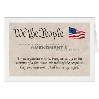 Enmienda II Tarjeta De Felicitación