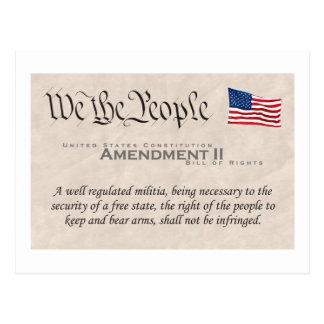 Enmienda II Tarjetas Postales