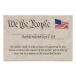 Enmienda III Posters