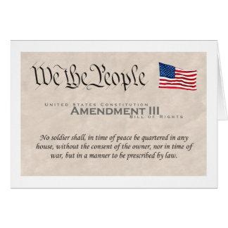 Enmienda III Felicitación
