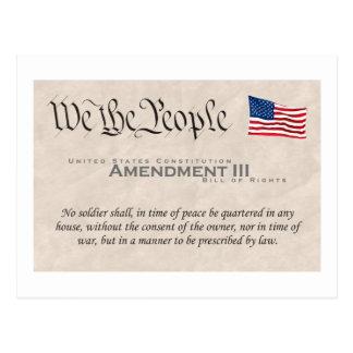 Enmienda III Postal