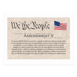 Enmienda V Tarjeta Postal