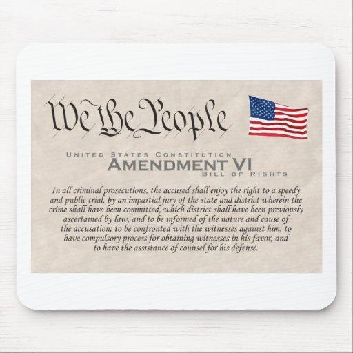 Enmienda VI Tapetes De Ratón