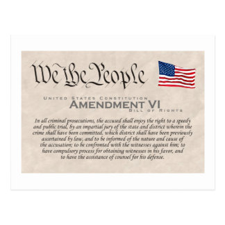 Enmienda VI Tarjetas Postales