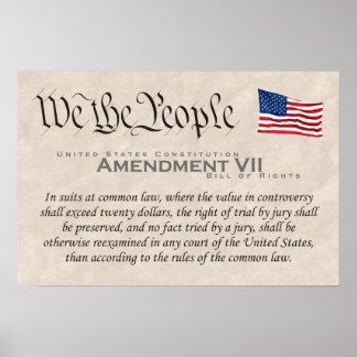 Enmienda VII Póster