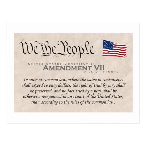 Enmienda VII Tarjeta Postal