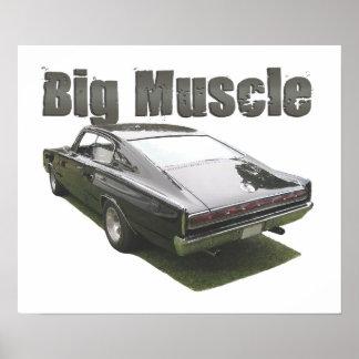 """Ennegrezca el poster del cargador del """"músculo gra"""
