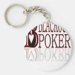 Ennegrezca hacia fuera el póker llaveros personalizados