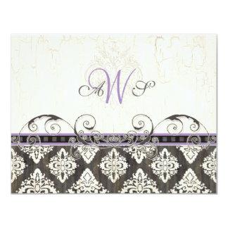 Ennegrezca 'la tarjeta blanca de la respuesta de invitación 10,8 x 13,9 cm