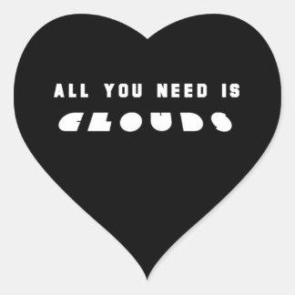 Ennegrezca todos lo que usted necesita las nubes pegatina en forma de corazón